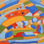 Abstract Art Gallery – Summer's Journey – Contemporary Painting by Weybridge Surrey Artist Jane Atherfold