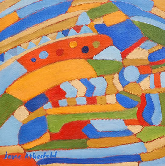 Abstract Art Gallery - Summer's Journey - Contemporary Painting by Weybridge Surrey Artist Jane Atherfold