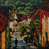 Dordogne Early Morning in Dommes – France Art Gallery