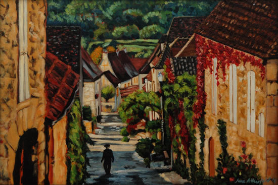 Dordogne Early Morning in Dommes - France Art Gallery