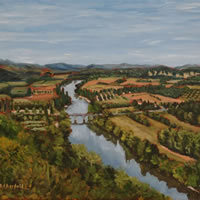 Dordogne Painting – View from Domme – France Art Gallery