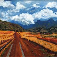 Farm Track Drakensberg The Great Escarpment – South Africa Art Gallery