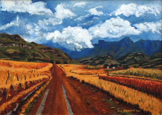 Farm Track Drakensberg The Great Escarpment - South Africa Art Gallery