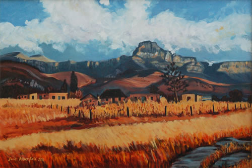Foothills in the Drakensberg - South Africa Art Gallery