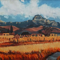 Foothills in the Drakensberg – South Africa Art Gallery
