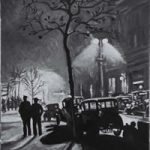 Northumberland Avenue – London by Night Art Gallery