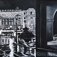 Piccadilly Circus – London by Night Art Gallery