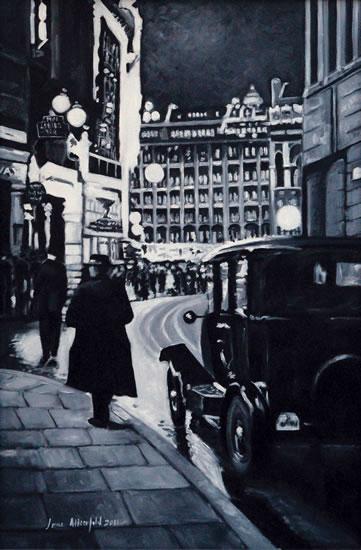 Regent Street - London by Night Art Gallery