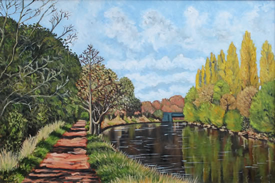 River Thames Painting - Towards Weybridge