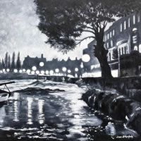 Strand on the Green – London by Night Art Gallery