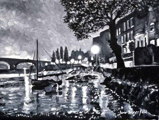 Strand on the Green - London by Night Art Gallery