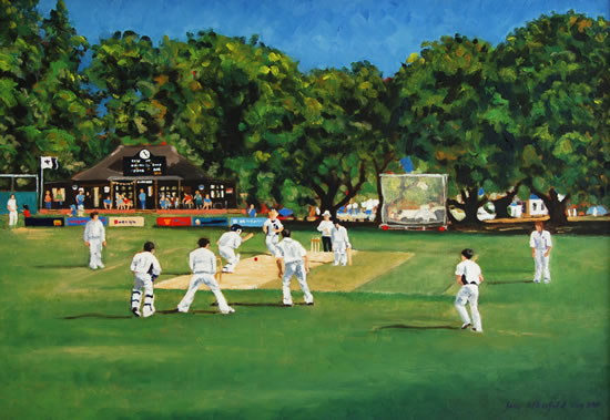 Weybridge Cricket Ground Painting