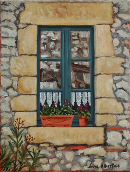 Window Monpazier Dordogne Painting - France Art Gallery