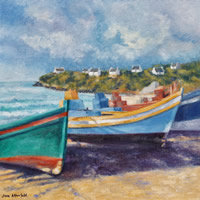 Arniston Fishing Boats Oil Painting – South Africa Art Gallery
