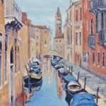 Canal in Venice Oil Painting – Italy Art Series