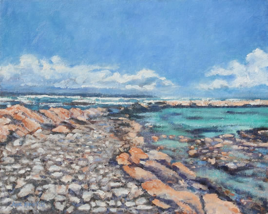 Cape Agulhas Turquoise Waters Oil Painting - South Africa Art Gallery