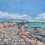 Cape Agulhas Turquoise Waters Oil Painting – South Africa Art Gallery