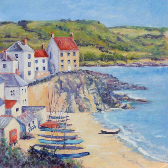 Cawsands Cornwall Oil Painting - Landscape Art
