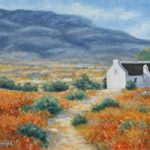 Cederberg Biedouw Valley White Cottage Oil Painting – South Africa Art Gallery
