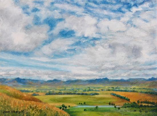 Drakensberg Plains - Oil Painting - South Africa Art Galleryjpg