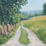 Farm in Llangollen Wales Oil Painting – Landscape Art
