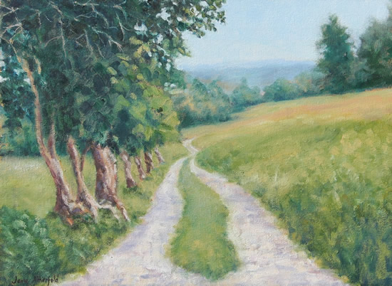 Farm in Llangollen Wales Oil Painting - Landscape Art