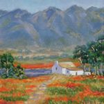Farmers Cottage Namaqualand Daisies – Oil Painting – South Africa Art Gallery