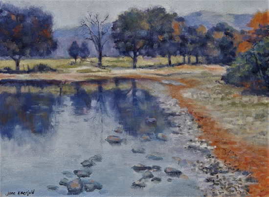 Lake District Ullswater in Autumn - Landscape Oil Painting - English Art Gallery