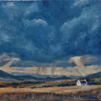 Little White House in the  Great Karoo Oil Painting – South Africa Art Gallery