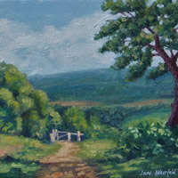 Newlands Corner Surrey in Spring – Oil Painting – Landscape Art