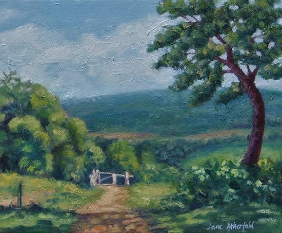 Newlands Corner Surrey in Spring - Oil Painting - Landscape Art