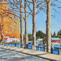 River Green Norwich Norfolk Landscape Art – Oil Painting – Jane Atherfold
