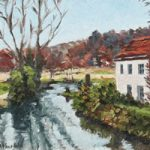 River Wey Godalming Surrey England Oil Painting – Landscape Art