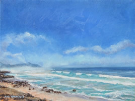 Scarborough Beach Cape Town Oil Painting – South Africa Art Gallery