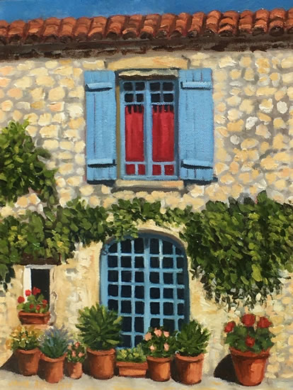 Terrace Oil Painting - France Art Gallery