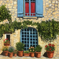 Terrace Oil Painting – France Art Gallery