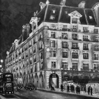 The Ritz Hotel London – Black and White Art Gallery – Oil Painting